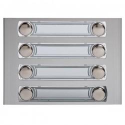 375280 / Frontal 8 pulsadores 2 columnas Serie 7 Tegui