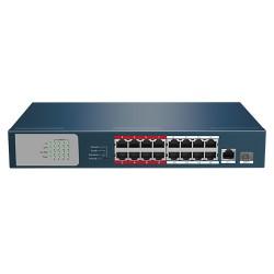 SWPOE1816 / Switch PoE 16 Puertos + 2 GIGA 10/100Mbps
