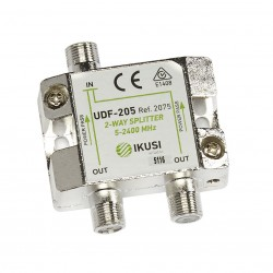 UDF-205 / Distribuidor 2 salidas (5-2400MHz)