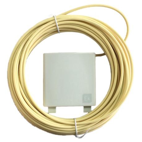 PF20 / PAU fibra óptica con 2 adaptadores SC/APC antipolvo y pigtail 2 fibras 20m
