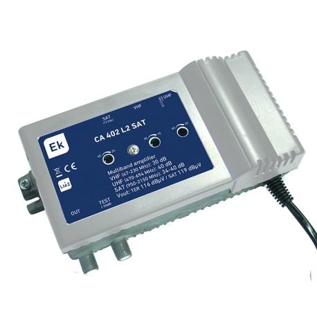 CA402SAT-L2 / Amplificador Multibanda 3 entradas 40dB (UHF) - 40dB (SAT) LTE2