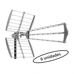DAT-912B/6 - Antena UHF 16dB triple eje directivo (embalaje 6 unidades)