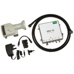 ODU-32KIT / Kit LNB + emisor óptico + fuente alimentación Ikusi