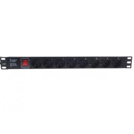 FSK-198-DOF / Regleta eléctrica de 8 tomas Schuko con interruptor