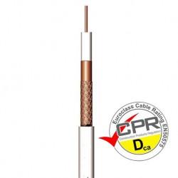 CCU-113D / Cable Coaxial 6,9mm Cu/CCA blanco (100m)