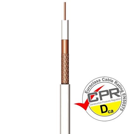CCU-102D / Cable Coaxial 6,7mm Cu/CCA blanco (100m)