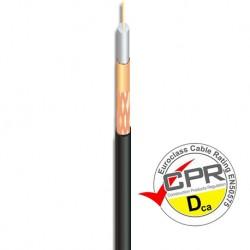 CUA-544 / Cable Coaxial 6,8mm Ø LSZH negro CPR Dca Ikusi