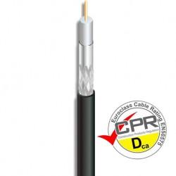 CSL-611 / Cable Coaxial 10,1mm CCS/Al LSZH negro (200m)