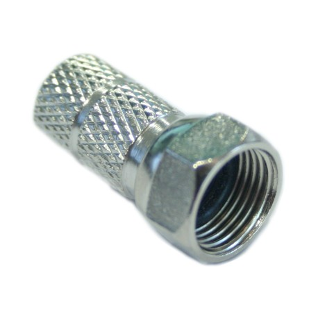 CFR7 / Conector roscado tipo F cables 7mm con junta tórica