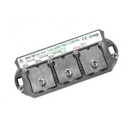 DAU-307 / Distribuidor + PAU tipo brida Ikusi (5..2400MHz) 3 salidas