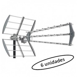 DAT-902-5G / Antena UHF 17dB LTE2 triple eje directivo (embalaje 6 unidades)