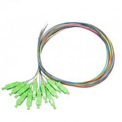 FO-PAPC-K12C / Pack 12 Pigtail FO SC/APC 1 fibra interior (1,5m)