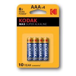 PILA-AAA / Blister 4 Pilas Alcalinas LR-03 (AAA) Kodak