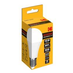A60/E27-WARM-10 / Bombilla led estandard E27 806lm 10W 3000k cálido Kodak