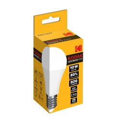A60/E27-DAY-10 / Bombilla led estandard E27 806lm 10W 6000k día Kodak