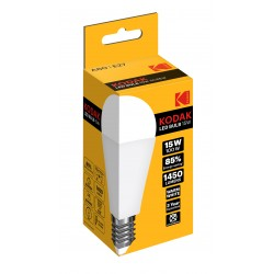 A60/E27-WARM-15 / Bombilla led estandard E27 1450lm 15W 3000k cálido Kodak