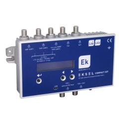 EKSEL-COMPACT/ICT - Cabecera Procesadora 5 entradas 70dB (UHF) - 40dB (SAT) - 32 filtros
