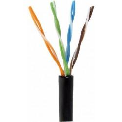 PUTP-CAT5E / Cable UTP CCA Categoría 5e PE negro CCA (305m)
