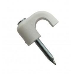 GRAPA-6B / Grapa para coaxial RG6 abierta blanca (100uds)