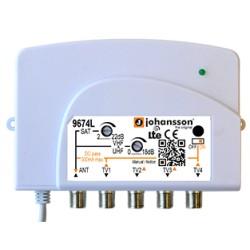 9674L / Amplificador de usuario (TER - SAT) 4 salidas Johansson