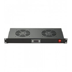 "FR-FAN-R02T / Conjunto 2 ventiladores rack 19"" termostato on/off Keynet"