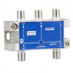 ROS-400 / Distribuidor 4 salidas (5-2400MHz) Paso de corriente en 1 salida Rover