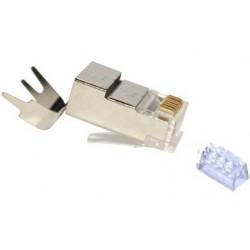FE-HQ6A2-50PG / Conector RJ45 macho Cat. 6A alta calidad Keynet