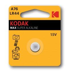 Pila A76-LR44 / Pila alcalina tipo botón A76-LR44 (1,5V) Kodak