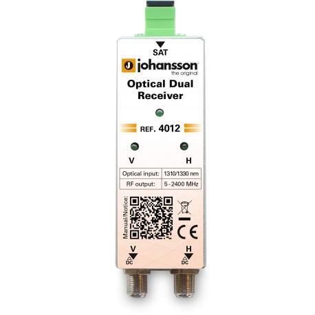 4012 / Receptor óptico dual (1310 / 1330nm) con AGC Johansson