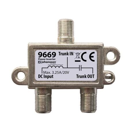 """9669 / Inyector de corriente conector """"F"""" (Max. 20V / 3,5A) Johansson"""