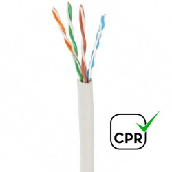 LUTP-CAT5E / Cable UTP Categoría 5e LSZH blanco CCA (305m)