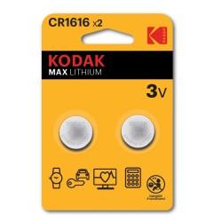 CR1616 / Pila de litio tipo botón CR1616 (3V) (Blister 2 unidades)