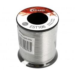 EST106 / Carrete estaño 60% Sn 40% Pb 2% Flux 1mm (250gr) Nimo