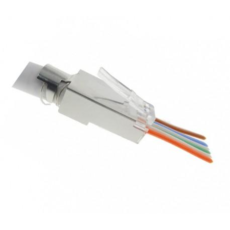 FE-HF66AF-50 / Conector RJ45 macho para cable FTP Cat. 6A (rápido) Keynet