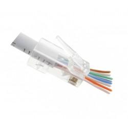 FE-HF66AU-50 / Conector RJ45 macho para cable UTP Cat. 6A (rápido) Keynet