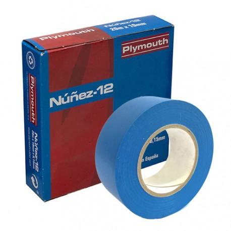 CINTA-A / Cinta aislante azul ancho 19mm (20m) Nuñez