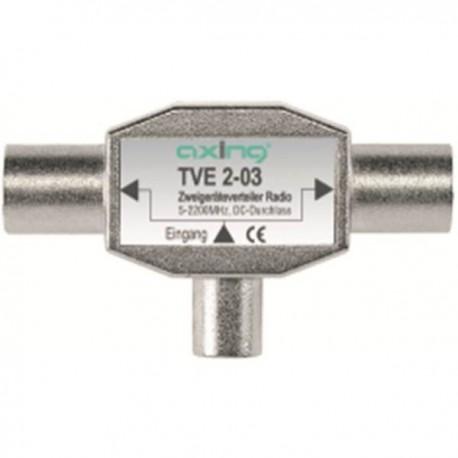 TVE 2-03 - Mezclador / Distribuidor conector IEC 1 macho - 2 hembras