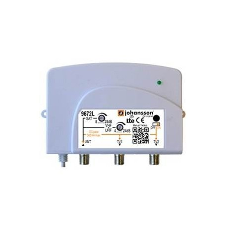 9672L / Amplificador de Vivienda 1 IN - 2 OUT 24dB (TER) / 28dB (SAT)