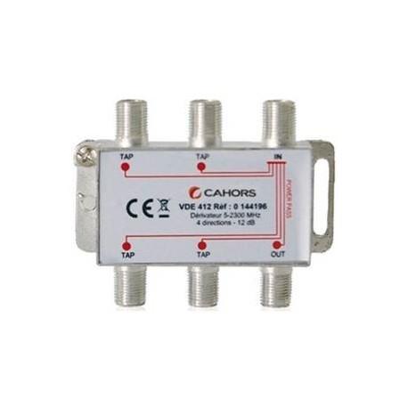 VDE-415 / Derivador 4 vías (-15dB)