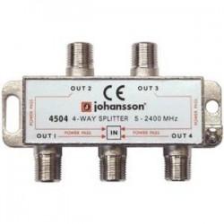 """4504 / Distribuidor 4 salidas conector """"F"""" (5-2340MHz) Johansson"""