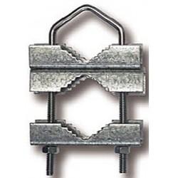 ADM8 / Abrazadera doble dentada barandilla
