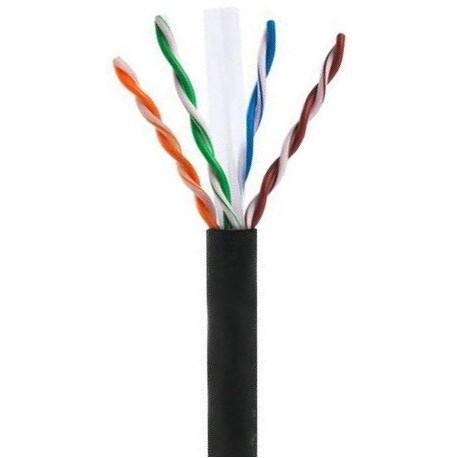 CAS/PUTP-CAT6 / Cable UTP CCA Categoría 6 PE negro CCA (305m)
