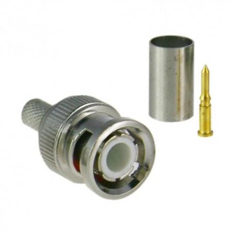 CON110 / Conector BNC macho para crimpar Microcoaxial