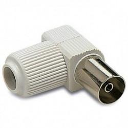 CCH / Conector acodado IEC hembra blanco