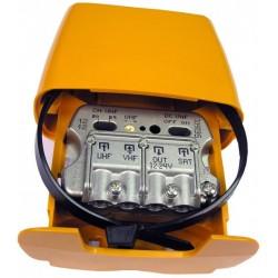 561601 / Amplificador de mástil UHF/VHF/SAT 29dB/-1.5/-2.2dB