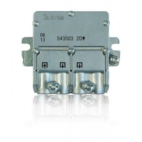 """543503 / Distribuidor 2 salidas tipo brida """"EasyF"""" (5…2400MHz)"""