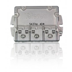 """543702 / Distribuidor 4 salidas tipo brida """"EasyF"""" (5…2400MHz)"""