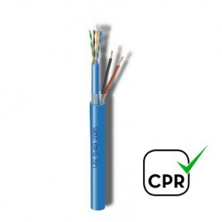 UTP+2x0,75 / Cable UTP Cat.5e + 2x0,75mm LSZH (150m)