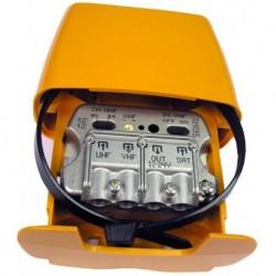 561602 / Amplificador de mástil UHF/VHF/SAT 29dB/-1.5/-2.2dB