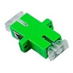 ASASA-HT / Enfrentador fibra óptica SC/APC Simplex con tapa transparente